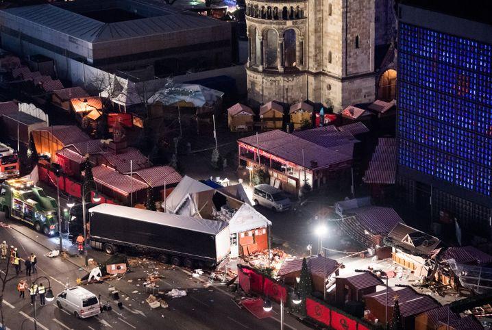 Weihnachtsmarkt am Breitscheidplatz nach dem Anschlag (Archivbild)