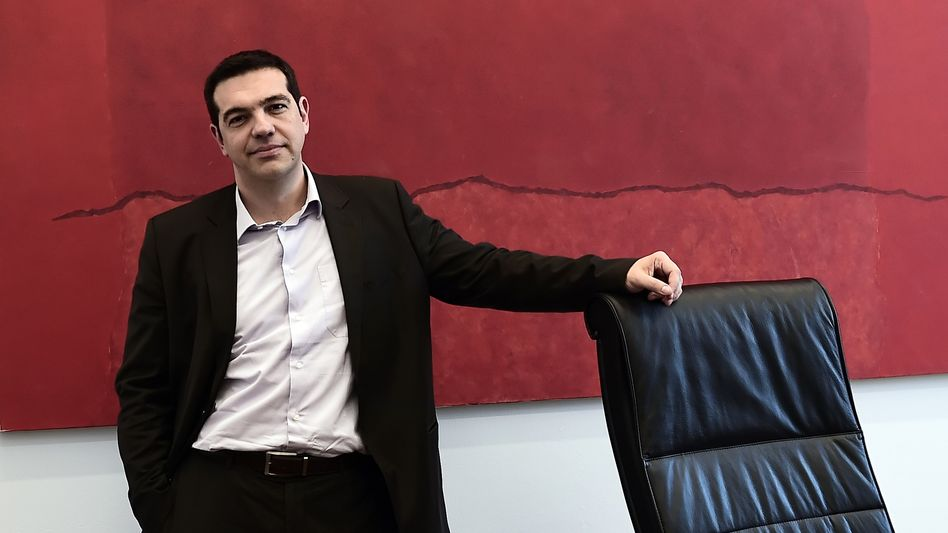 """Alexis Tsipras is the head of Greece's opposition Syriza party, which stands a good chance of winning snap elections on Jan. 25. """"On Tuesdays the euro, on Fridays the drachma,"""" his opponents have said sneeringly of his contradictory statements."""