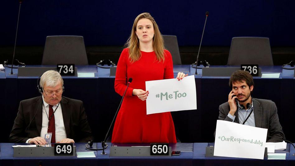 European Parliament member Terry Reintke in Strasbourg.