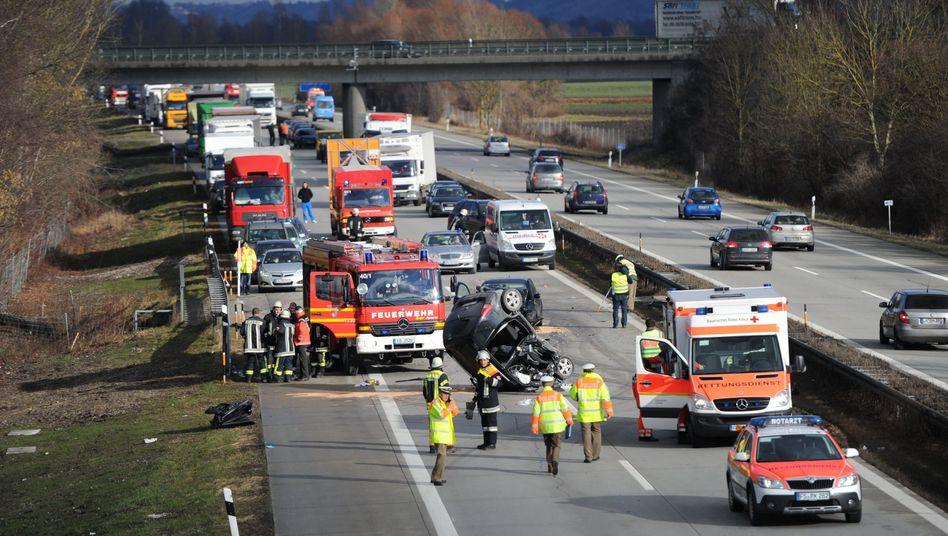 A92 zwischen Moosburg-Süd und Erding: Zwei schwere Unfälle wegen eines Falschfahrers
