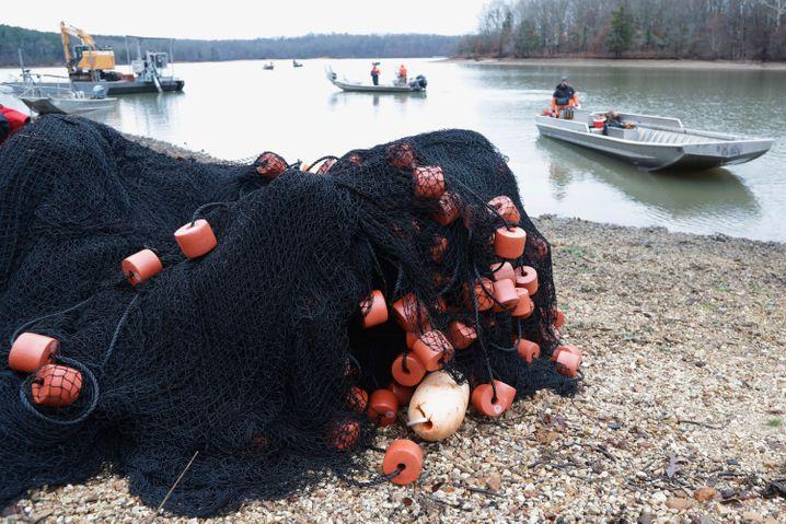 Karpfenfang auf dem Kentucky Lake: Die Fischer mussten die Techniken erst entwickeln, um den Tieren effektiv zu Leibe zu rücken