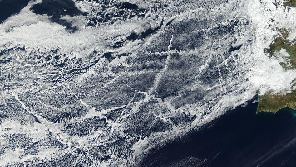 """Aufnahme des Nasa-Satelliten Aqua: """"Wolkenveränderungen haben einen globalen Kühleffekt erzeugt"""""""