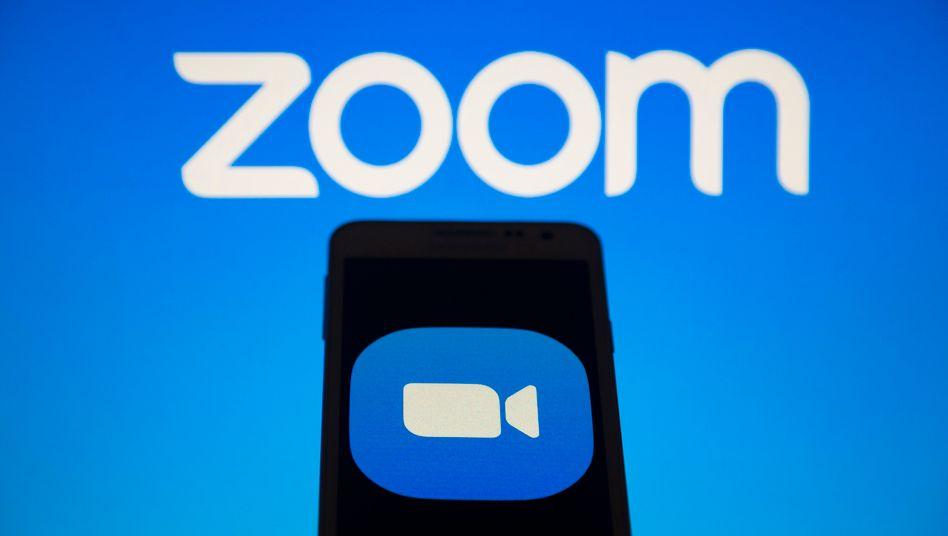 Logo von Zoom: Erlöse im ersten Quartal um 169 Prozent gesteigert