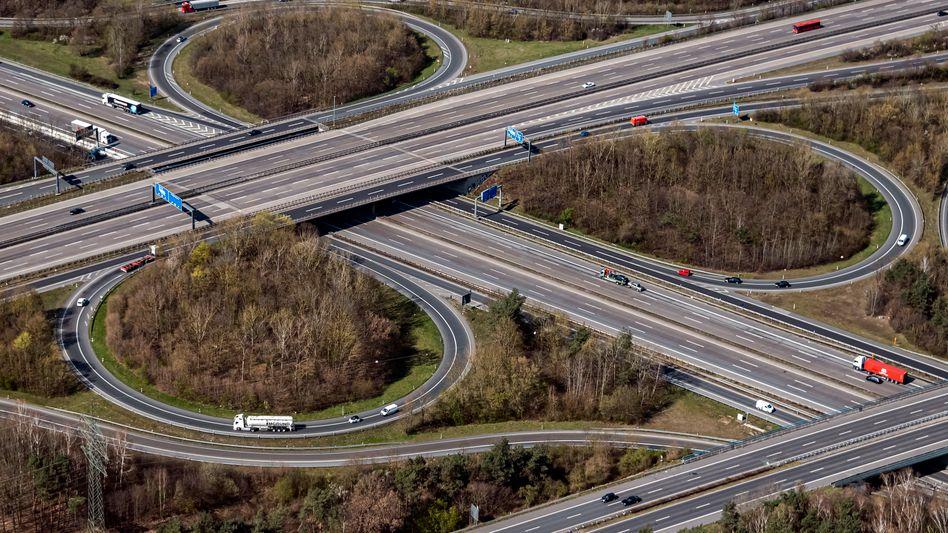 Autobahnen bei Frankfurt am Main