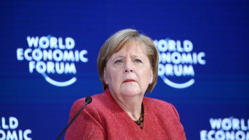 Wenig Zeit für einen neuen Anlauf: Angela Merkel in Davos