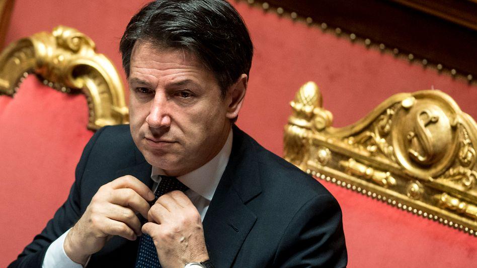 """Conte vor dem Senat: """"Die Vorlage von Präsident Michel ist weiterhin unzureichend"""""""