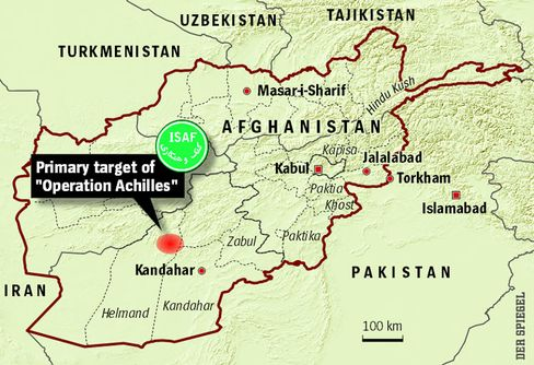 NATO is concerned about the advance of the Taliban in southern Afghanistan.