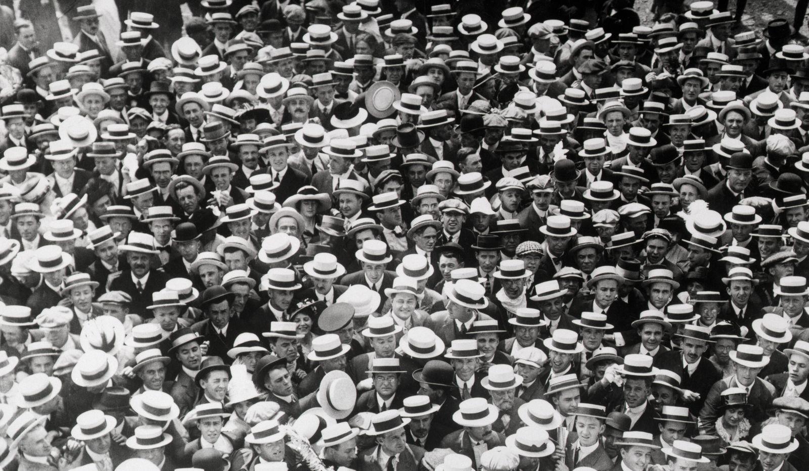 Crowd Scene At Baseball Game