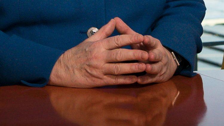 Angela Merkel bei der Aufzeichnung ihrer TV-Ansprache