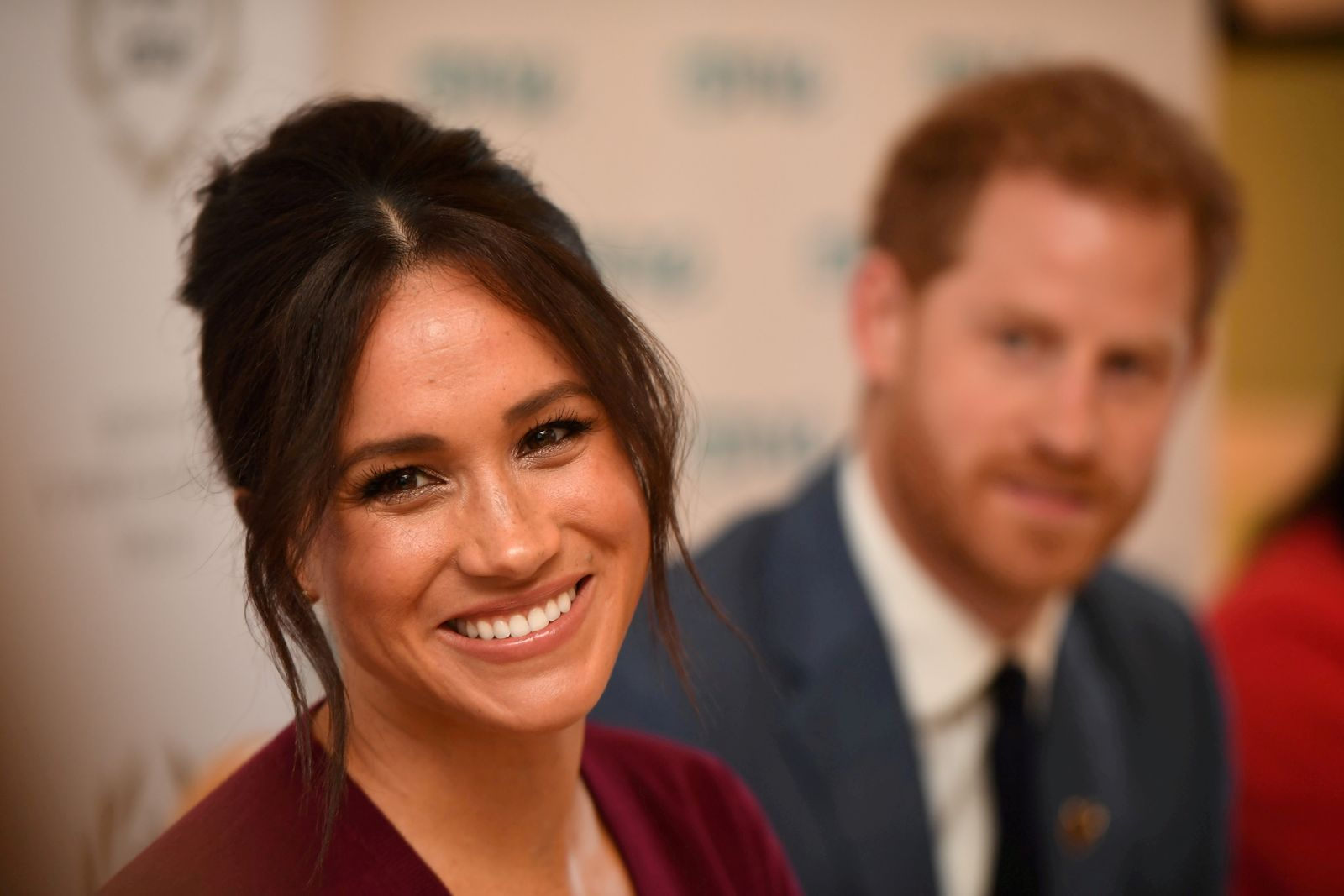 FILE PHOTO: FILE PHOTO: Britain's Meghan, the Duchess of Sussex, and Prince Harry, Duke of Sussex, attend a roundtable discussion on gender equality with The Queen's Commonwealth Trust (QCT) and One Young World at Windsor Castle