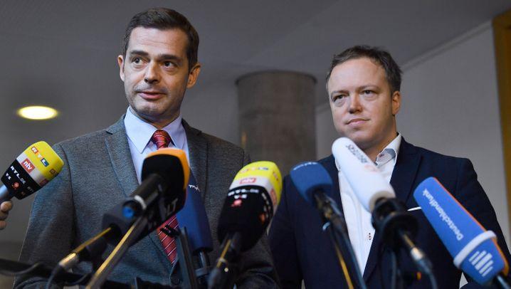 Seit Jahrzehnten innerparteiliche Erzfeinde: der Ex-Fraktionschef Mike Mohring und sein Nachfolger Mario Voigt
