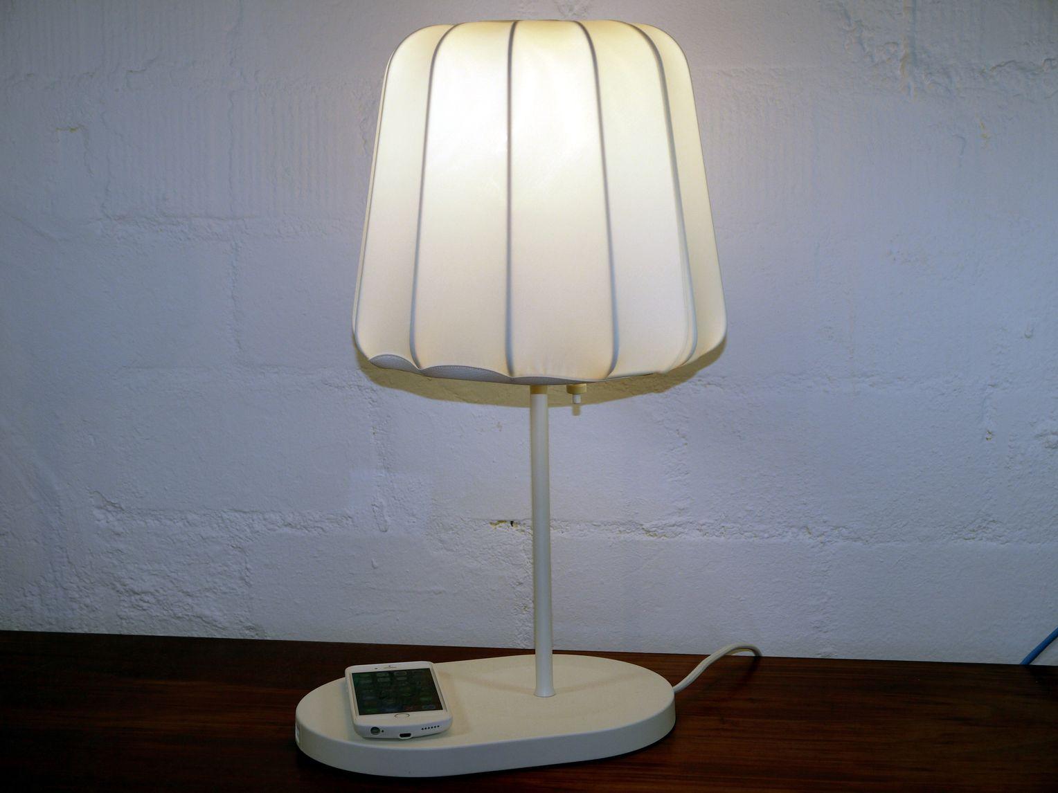 IKEA FÖRNYAD Arbeitsleuchte Lampe Schreibtischlampe Knopf Handy Ladefunktion NEU