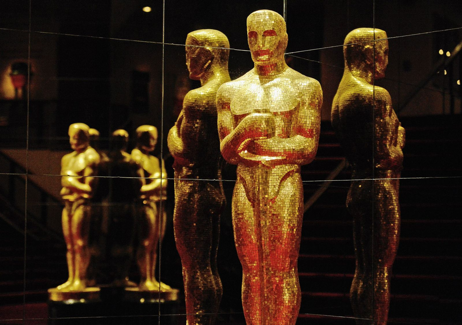 An Oscar statue is seen at the Academy of Television Arts and Sciences following the 85th Academy Awards nominee announcements in Beverly Hills, California