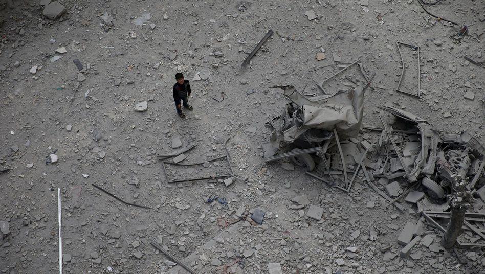 Zerstörung in Damaskus: Kaum Hoffnung für Syrien