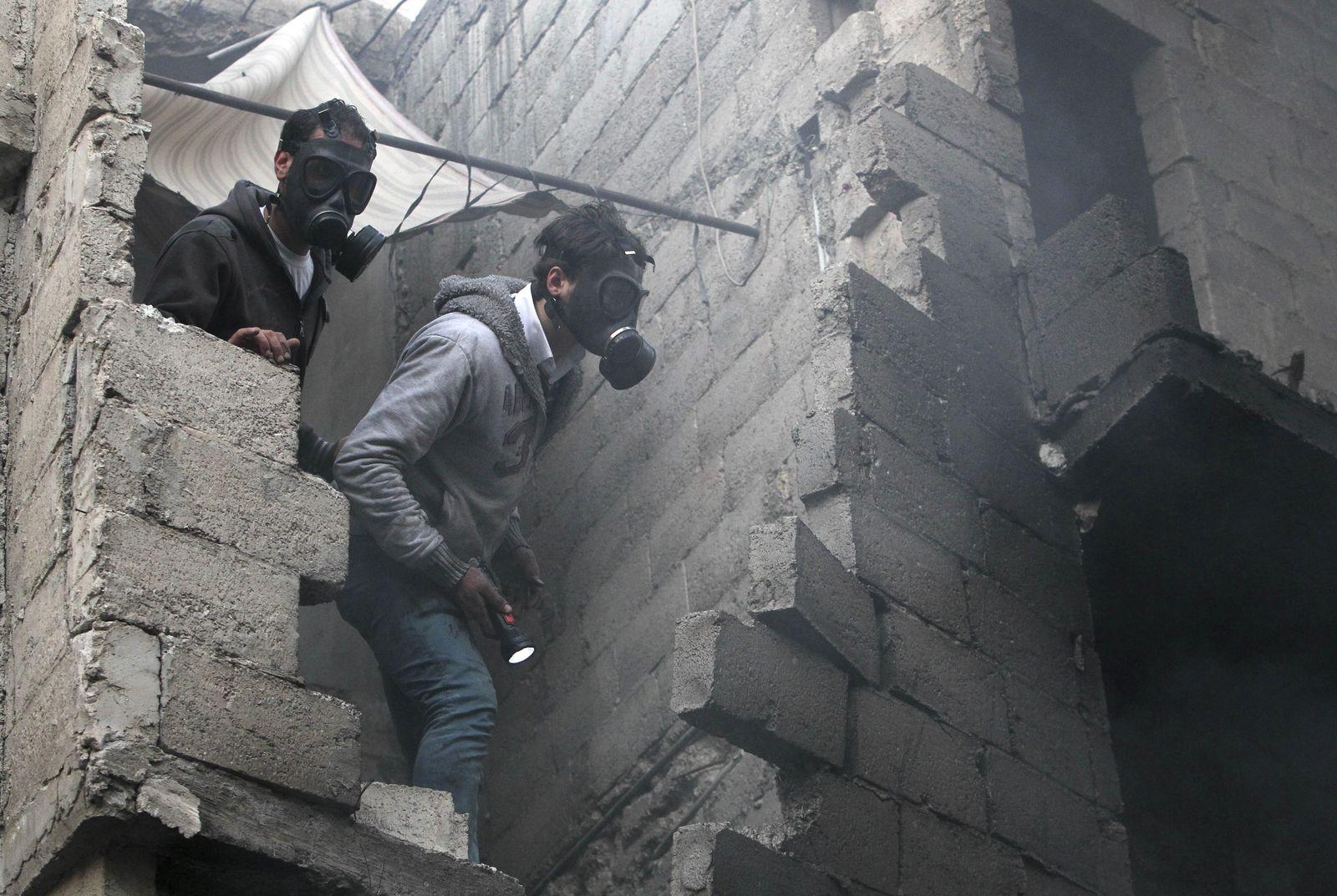 Syrien / Gasmasken