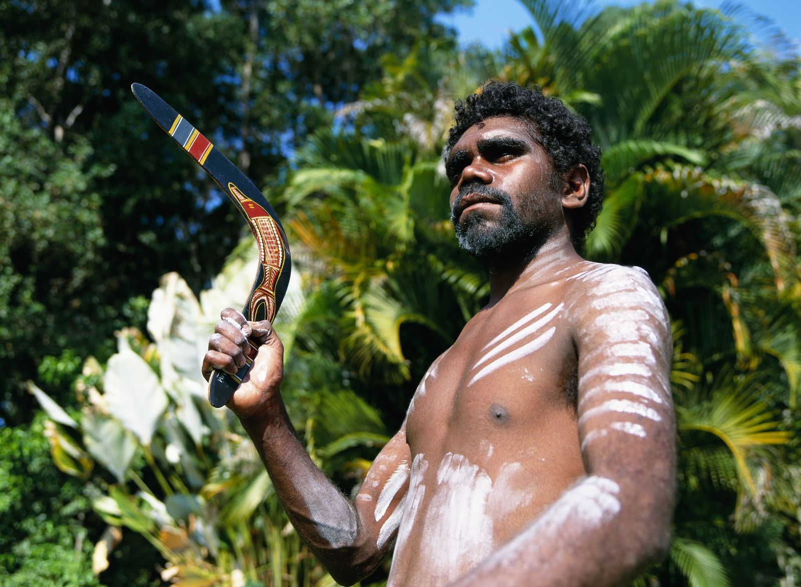 NICHT MEHR VERWENDEN! - Aborigines / Bumerang