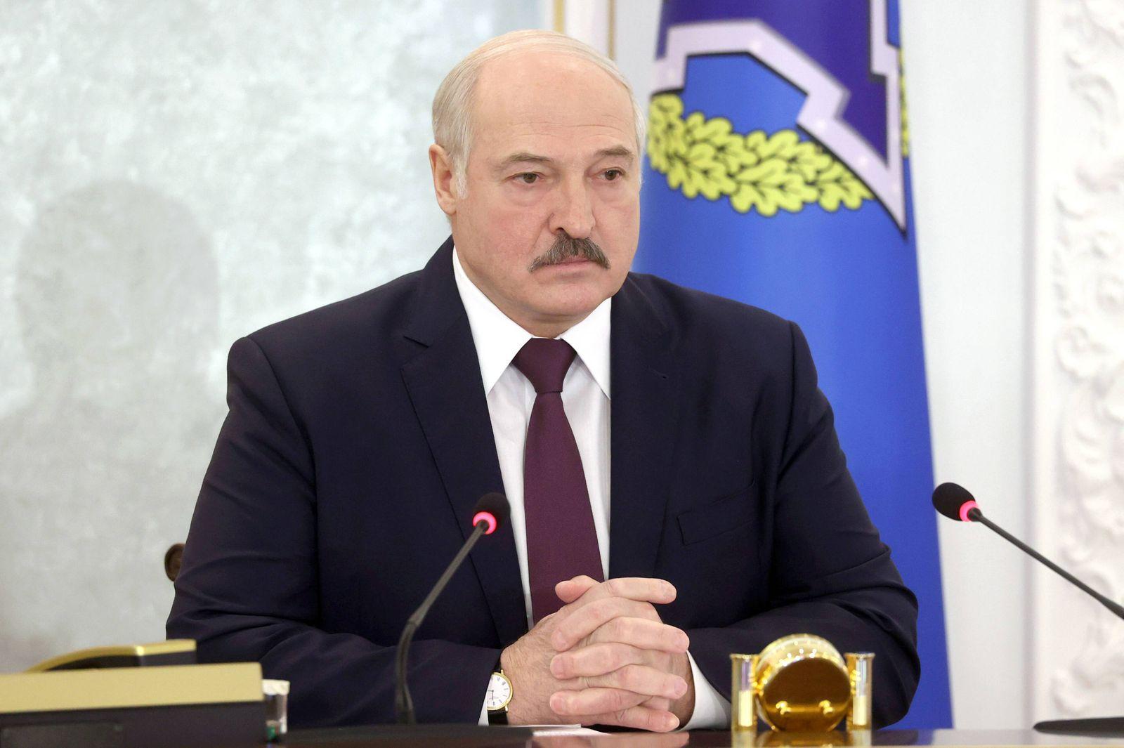 MINSK, BELARUS - DECEMBER 2, 2020: Belarus President Alexander Lukashenko takes part in a meeting of the CSTO (Collecti