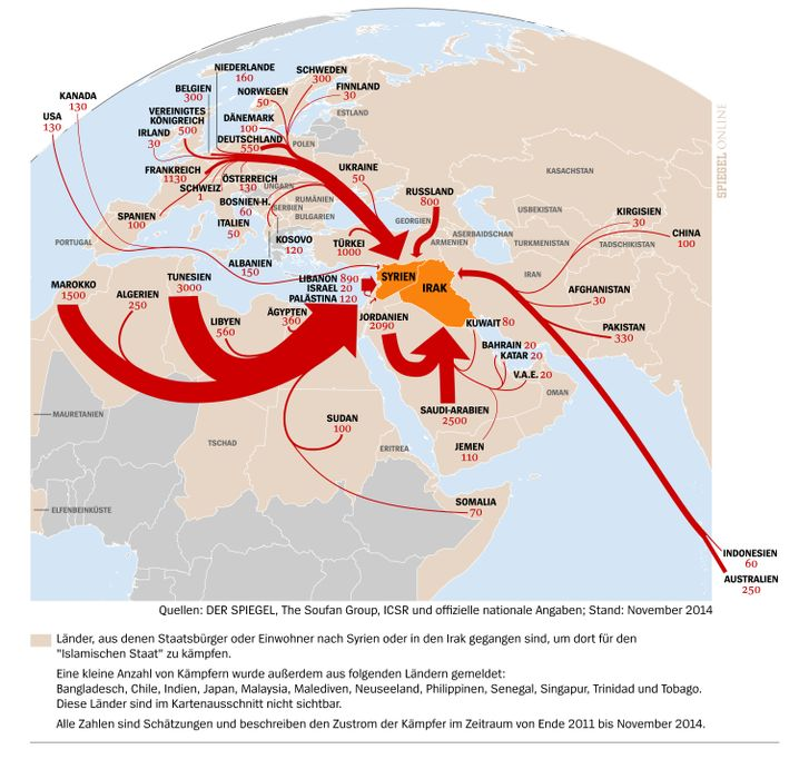 Zustrom von Dschihadisten nach Irak und Syrien