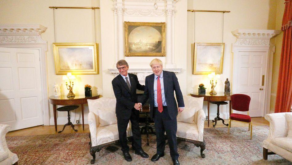 David Sassoli und Boris Johnson trafen sich in 10, Downing Street. Wohl ohne großen Erfolg