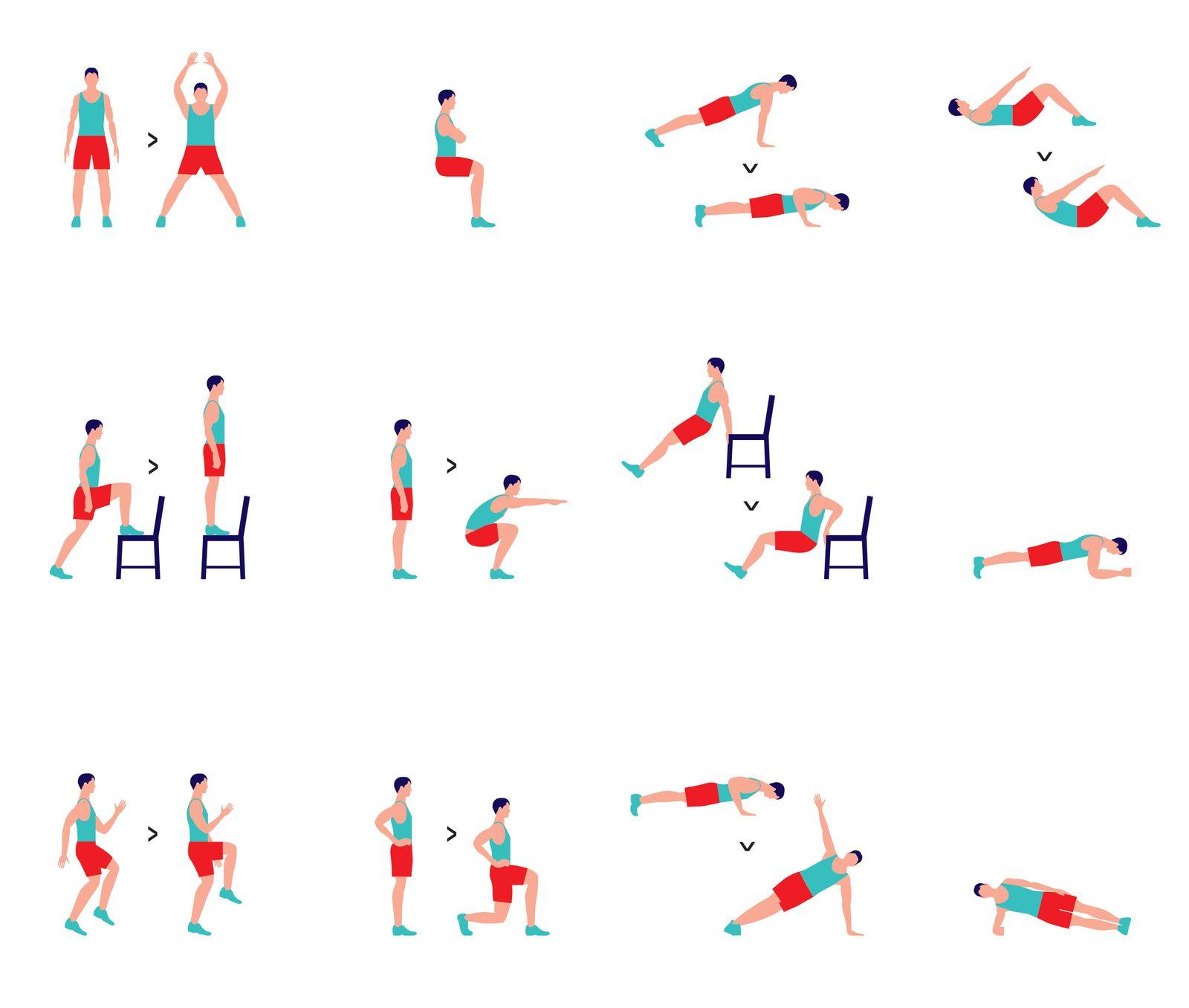 7 Minuten Work-Out