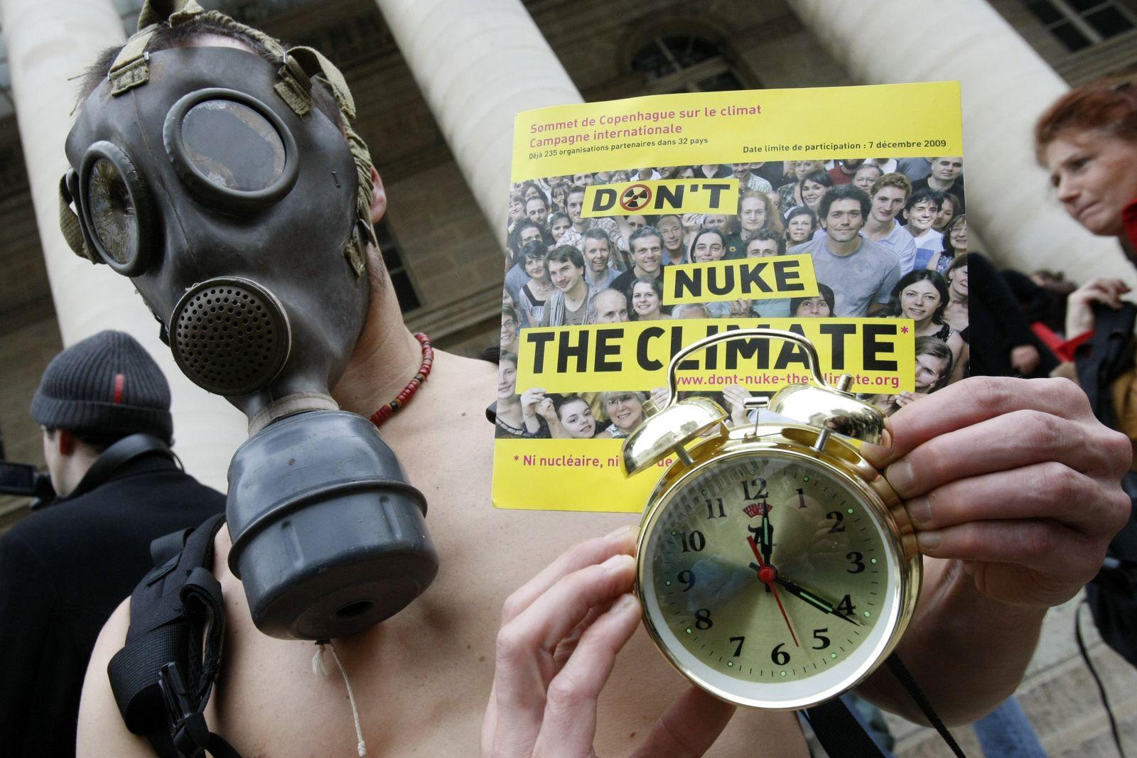 Klimawandel Demonstrant