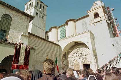 Basilika des Heiligen Franziskus: Der Papst bei einem Besuch in Assisi