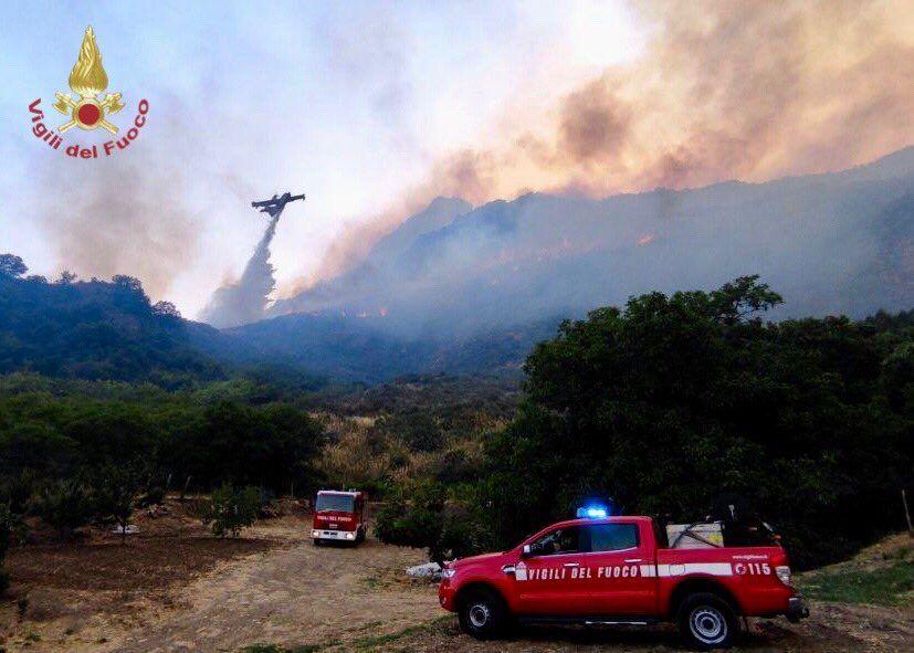 Waldbrände auf Sizilien