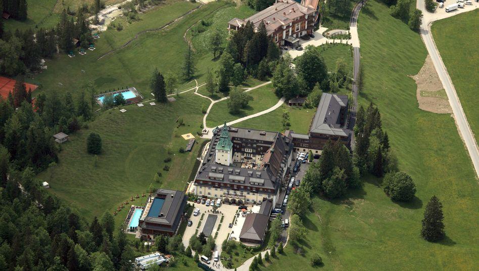 Tagungsort Schloss Elmau aus der Luft: Die führenden Industrienationen beraten sich wieder