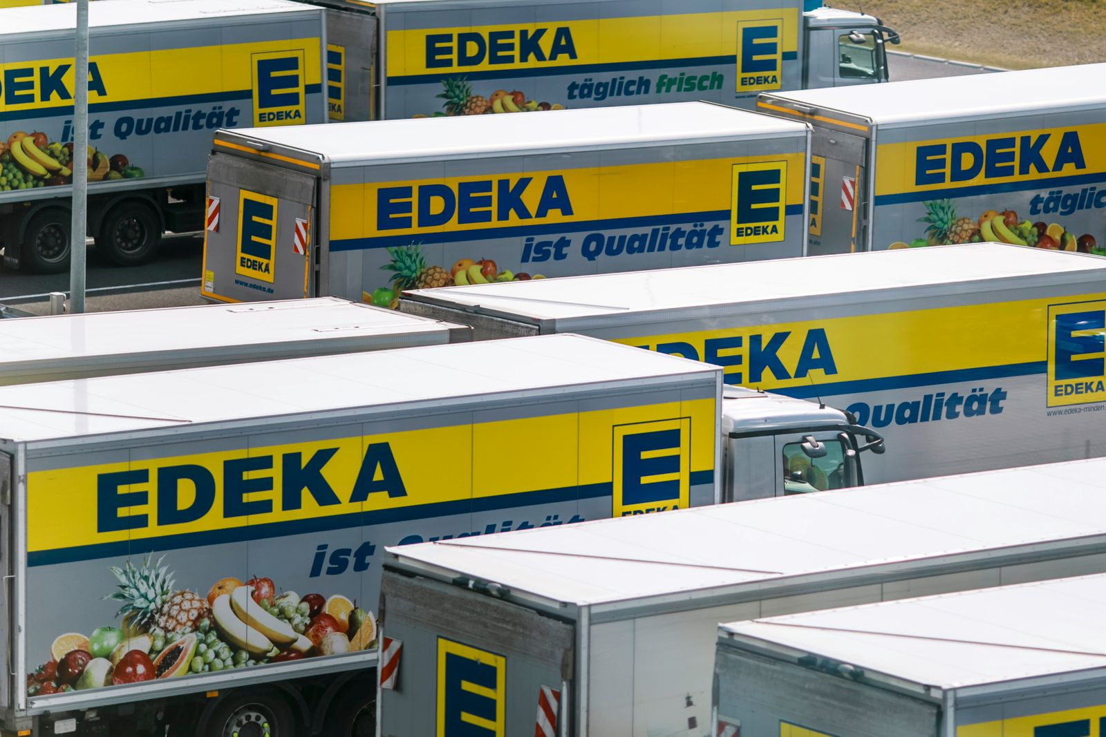 General Views Of Edeka Supermarket Cooperative