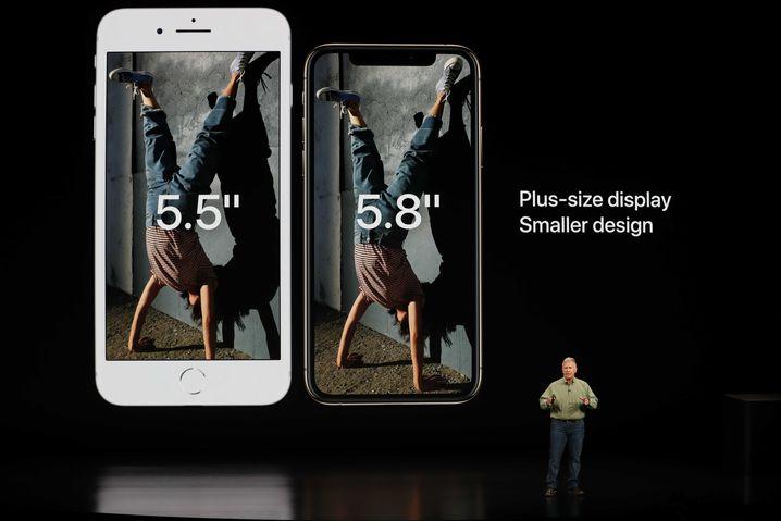 Das neue iPhone Xs (rechts)