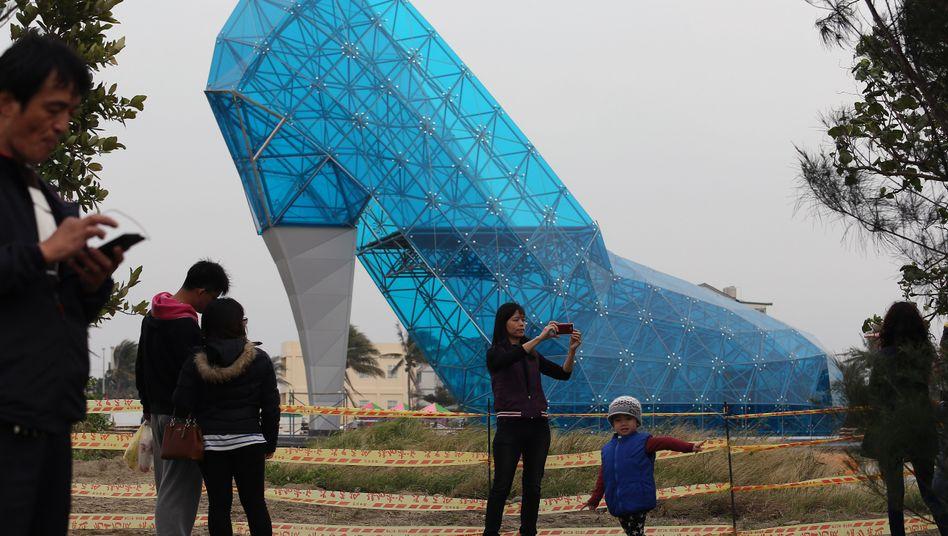 Schuhwerk als Bauwerk: Kirche in Taiwan