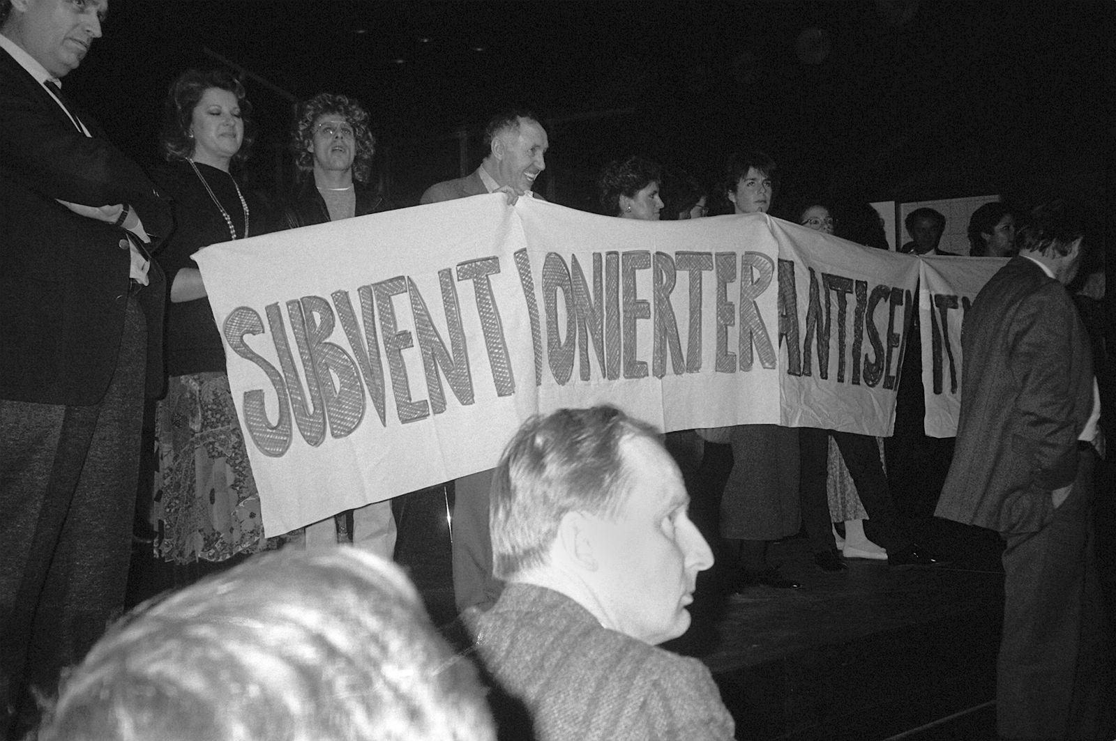 Ignatz Bubis Protest gegen Fassbinder-Stück