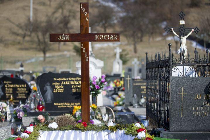 Das Grab des toten Enthüllungsjournalisten Ján Kuciak