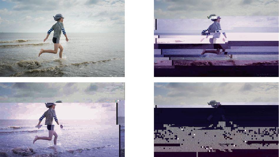"""Sich auflösendes Urlaubsfoto (Simulation): """"Da darf man keine Risiken eingehen"""""""