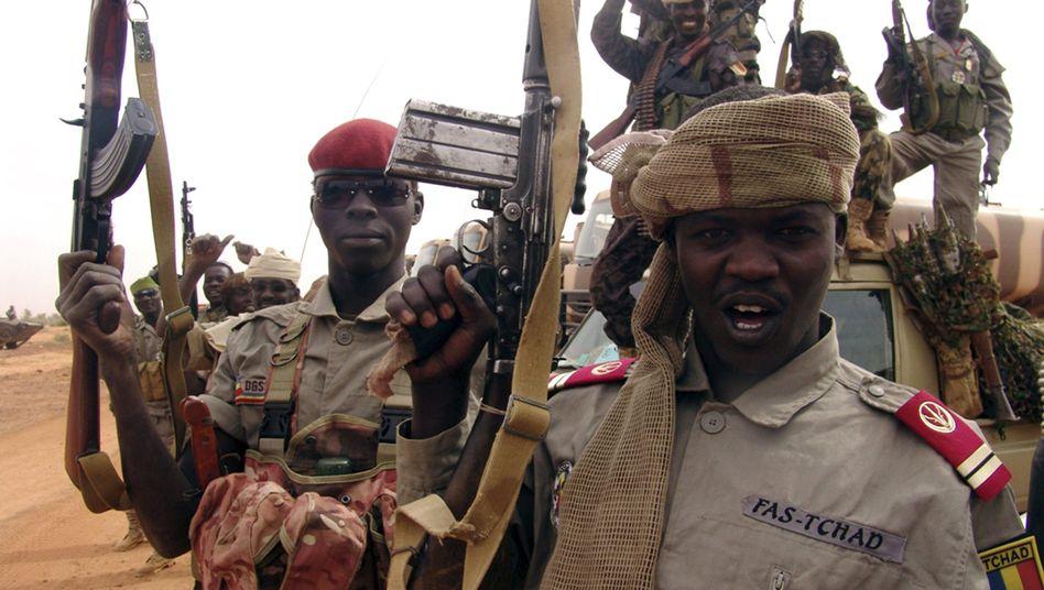 Tschadische Soldaten (Ende Januar an der Grenze zu Mali): Einzug in Kidal