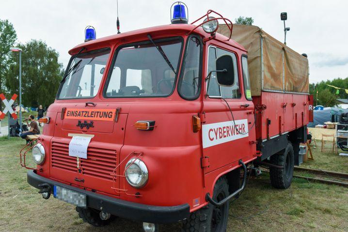 Ein weiteres Fahrzeug auf dem CCCamp: Die Cyberwehr