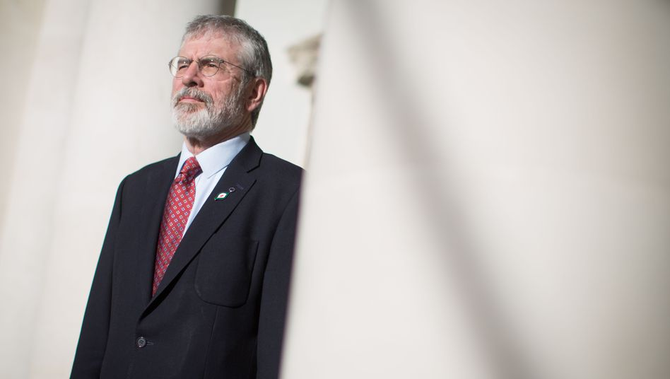 """Politician Gerry Adams: """"The British government conducted a referendum on totally ignoring the damage it would do to Ireland."""""""