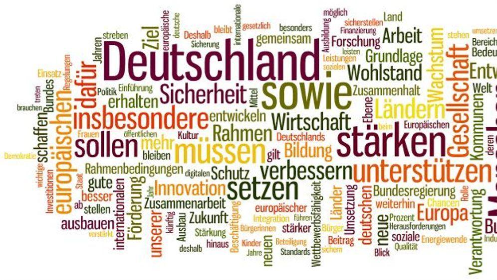 Schwarz-Rot: Der Koalitionsvertrag als Wortwolke