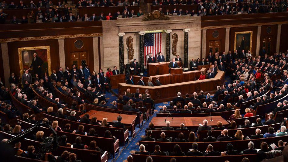 "Donald Trump hält seine erste ""State of the Union"" am 30. Januar 2018"