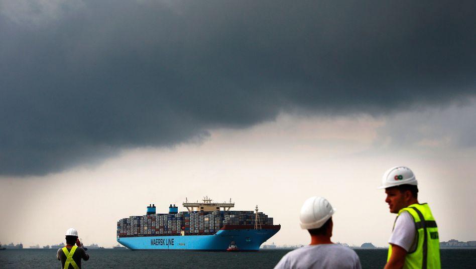 Containerschiff von Maersk: Geplante Allianz bedrohte chinesische Interessen