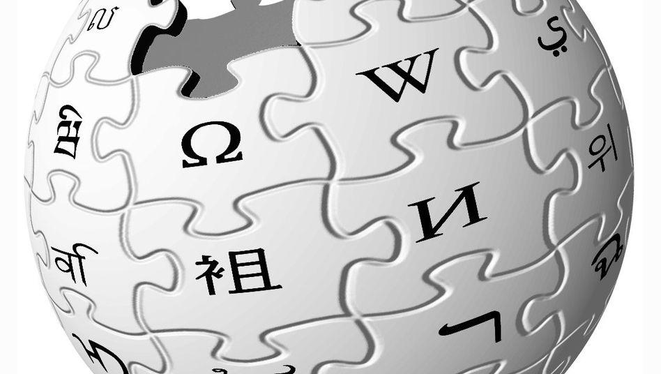 Wikipedia-Logo: Die deutschsprachige Wikipedia wird von Wikimedia gefördert