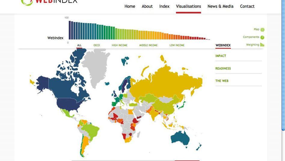 Web Index: Ranking sieht Deutschland auf Platz 16