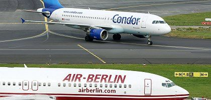 Budget airlines like Condor and Air Berlin are having trouble staying aloft these days.