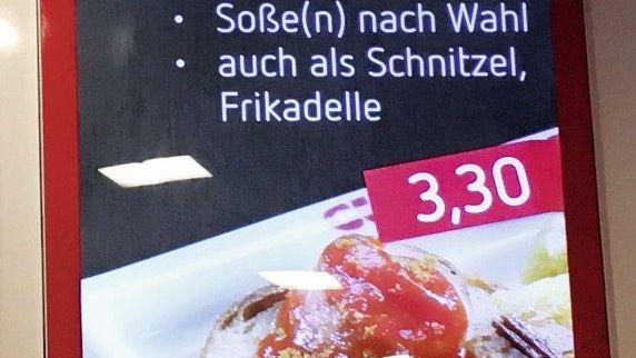 Schild in einem Einkaufszentrum in Essen