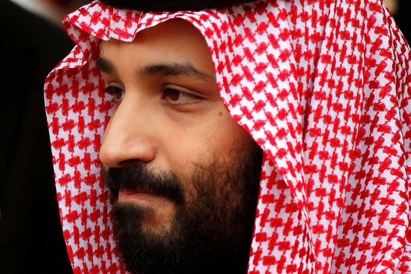 FILE PHOTO: Saudi Arabia's Crown Prince Mohammed bin Salman leaves the Hotel Matignon in Paris, France
