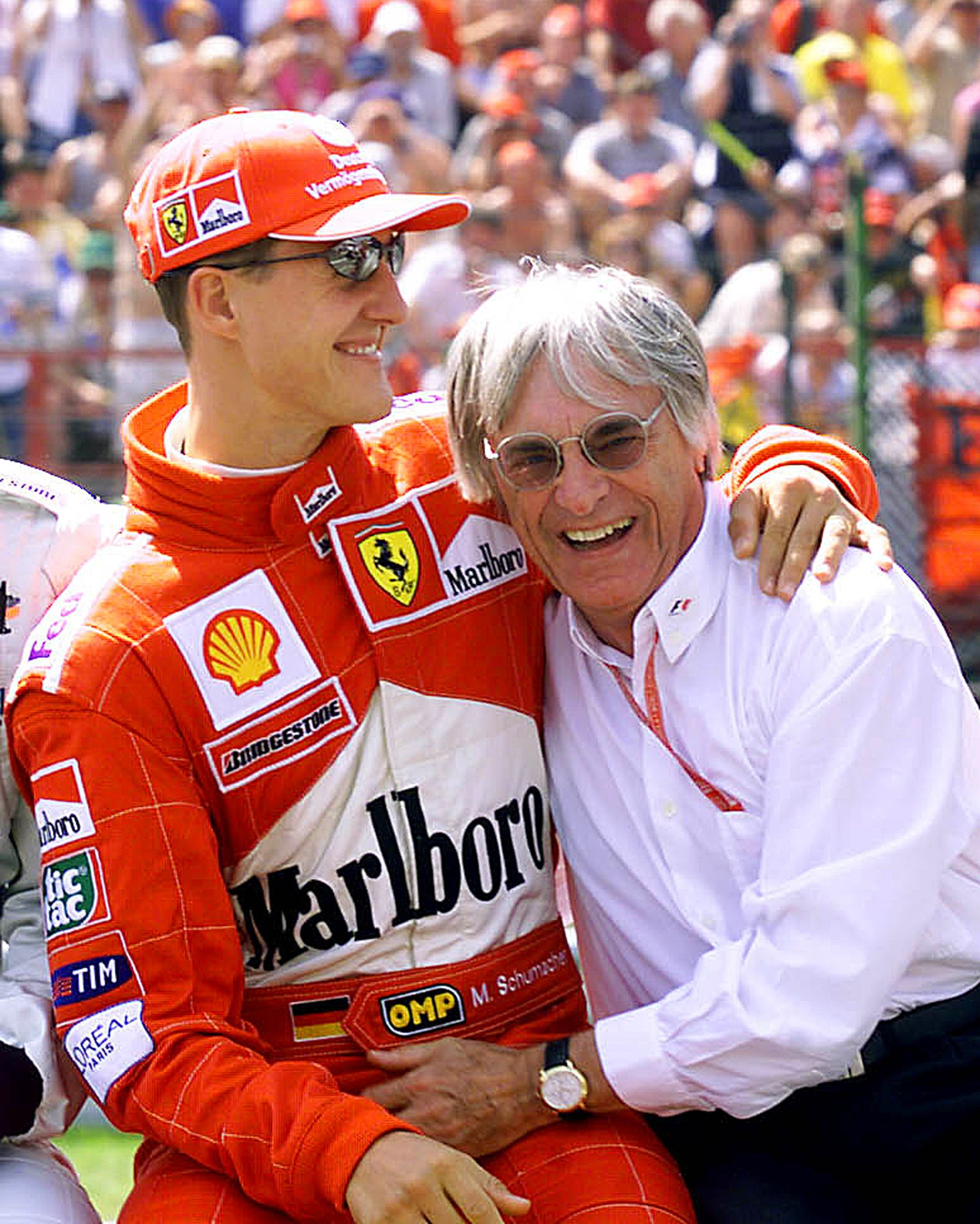 Bernie Ecclestone/ Schumacher