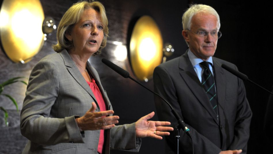SPD-Landeschefin Kraft, Noch-Regierungschef Rüttgers: Auch ohne ihn keine Große Koalition