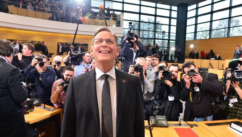 Bodo Ramelow hat es geschafft: Im zweiten Wahlgang zum Ministerpräsidenten von Thüringen gewählt