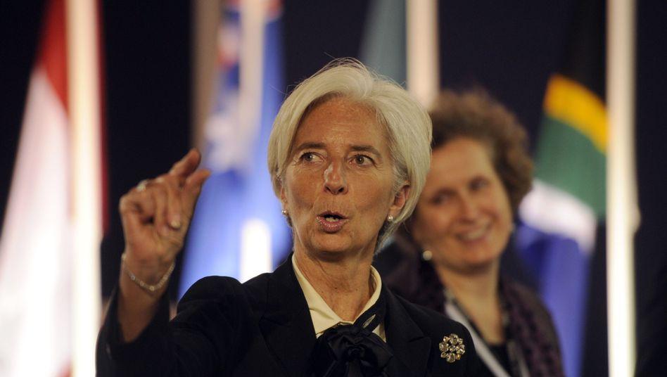 IWF-Chefin Lagarde: Mehr Geld gegen Finanzkrisen