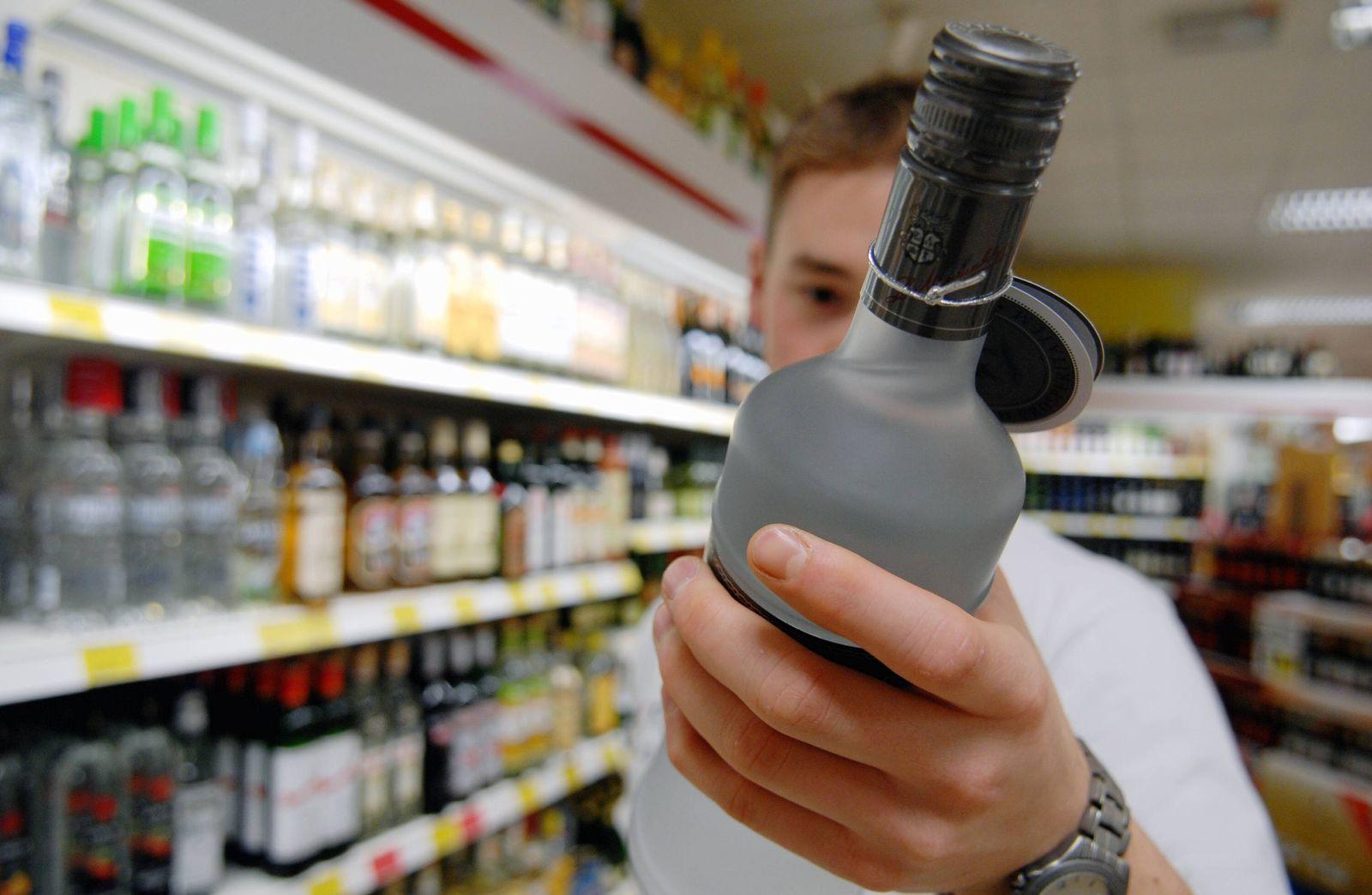 NICHT VERWENDEN Alkohol Jugendschutz